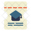 Graduation Ticket Icon