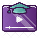 Graduation Video Graduation Degree Icon