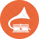 Gramophone Music Player Recorder Icon