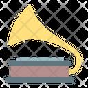 Gramophone Vinyl Player Icon