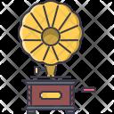 Gramophone Music Instrument Icon