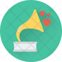 Gramophone Phonograph Hearts Icon