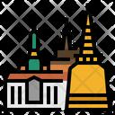 Grand Palace Landmark Pagoda Icon