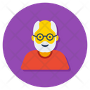 Senior Citizen Old Man Grandfather Icon