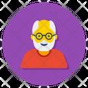Senior Citizen Old Man Grandfather Icon