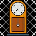 Grandfather Clock Decor Pendulum Icon