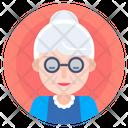 Avatar Elderly Grandma Icon