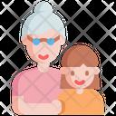 Grandma Grandmother Granddaughter Icon
