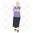 Old Woman Grandmother Icon