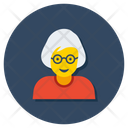 Senior Citizen Old Woman Grandma Icon