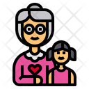 Grandmother Granddaughter Girl Icon