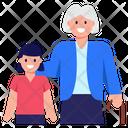 Grandmother With Granddaughter Grandmother Grandma Icon