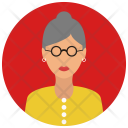 Elderly Woman Avatar Icon