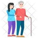 Grandmother Care Senior Citizen Grandmother Love Icon
