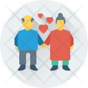 Grandparents Loving Romance Icon