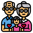 Grandparents Couple Girl Icon