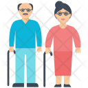 Parents Old Couple Icon