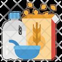 Milk Serial Breakfast Icon