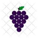 Grape Fruit Food Icon