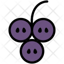Grape Half Fruit Icon