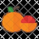 Grapefruit Orange Organic Icon