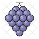 Grapes Fruit Eat Icon