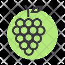Grapes Fruit Wine Icon