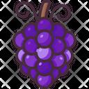 Grapes Grape Organic Icon