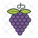 Grapes Fruit Healthy Icon