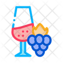 Wine Grapes France Icon