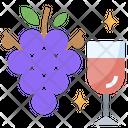 Grapes Wine Icon