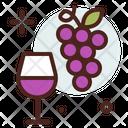 Grapes Wine Glass Wine Glass Grapes Icon