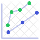 Graph Growth Graph Analysis Icon