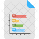 Ribbon Bar Graph Icon