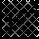 Multi Series Line Graph Icon