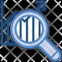 Data Analytics Graph Magnifier Icon