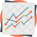 Line Graph Analysis Icon