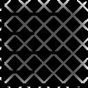 Analytics Horizontal Lines Icon
