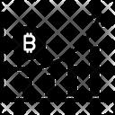 Bitcoin Graph Grown Up Icon