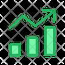 Bar Graph Report Analysis Icon