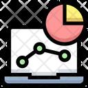 Graph Pie Chart Anaylitics Icon