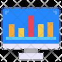 Graph Monitor Computer Icon