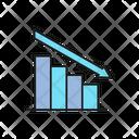 Graph Decreasing Down Trend Icon