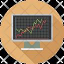 Graph Analysis Monitoring Icon