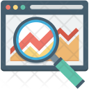 Graph Infographics Search Icon