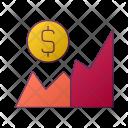 Graph Dollar Statistics Icon