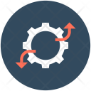 Graph Settings Cogwheel Icon