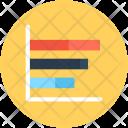 Graph Horizontal Analytics Icon