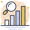 Graph Analysis Search Growth Bar Graph Icon