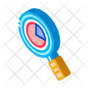 Statistician Magnifier Glass Icon